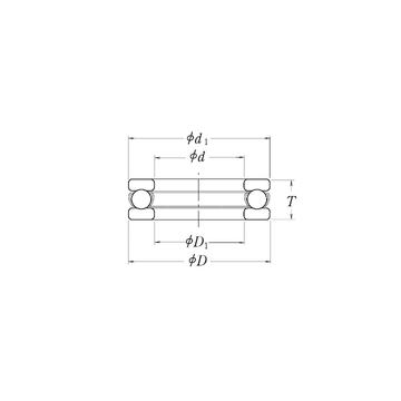 MT2.1/2 RHP Thrust Ball Bearings